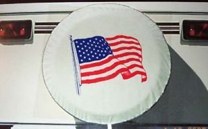 "Flag Spare Tire Cover camper motorhome RV 29"" 225 75 15 235 75 15 245 70 15"