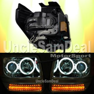 Dodge Nitro CCFL Halo Rims Clear Projector Headlights Amber LED Signal Lights