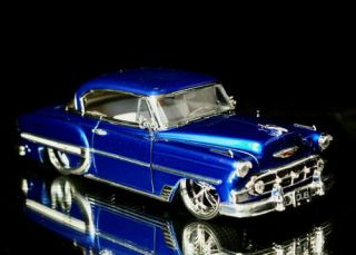 1953 Chevy Bel Air Dub City Old Skool Diecast 1 24 Scale Candy Purple