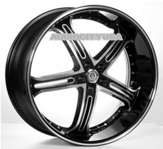 "22"" VT 226 5 BM Wheels and Tires Rims for Chevy Tahoe Escalade Yukon RAM Ford"