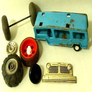 Buddy L Car Carrier Vintage Toy Lot Truck Grill Tire Collectable Old Part Repair