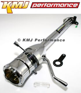 "Chevy Pontiac GM Style Hotrod Chrome Steering Column Auto Shift 32"" Universal"