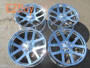"22"" Dodge RAM 1500 SRT10 Style Set of Four New Chrome Wheels Rims 2223"