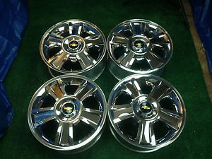 "New Chevy Silverado Tahoe Chrome 20"" Factory Wheels Rims Hollander 5416"