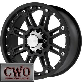 20 Black Black Rhino Rockwell Wheels Rims 8x165 1 8 Lug Chevy GMC Dodge 2500