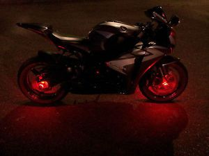 4 Red LED Motorcycle Wheel Pod Lights Custom Rim Dub Accent Lites SMD Honda Ride