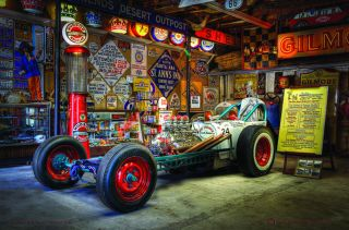 Mendenhall's Speed Machine Tin Metal Sign Drag Garage Old School Hot Rod Rat