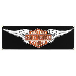 Harley Davidson Motor Cycles Wings Metal Sign XR750 Sportster Softail Fatboy