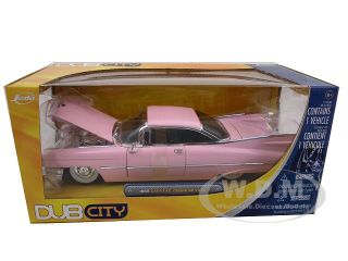 1959 Cadillac Coupe de Ville Pink 1 24 Diecast Model Car by Jada 53667