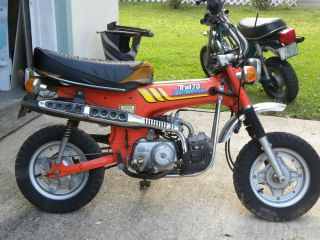Vintage 70s Honda CT70 Trail 70 Minibike Gas Powered Collectable Pit Drag Bike