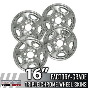 "1999 2005 Silverado HD 16"" Chrome Wheel Skins Covers"