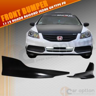 11 12 Honda Accord Sedan OE Type Urethane Front Bumper Lip Spoiler Splitter