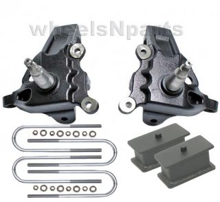 "Ford 2WD F150 3 5"" Front Spindles 2"" Rear Steel Block Suspension Lift Kit 607"