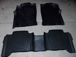 Toyota Tacoma Double Cab 2005 2014 05 14 Set WeatherTech Floor Mats