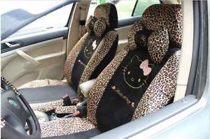 18pc Hello Kitty Design Car Seat Cover Compatible with Seat Airbags