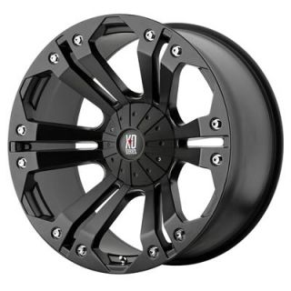 "KMC XD778 Monster Matte Black Wheel 18""x9"" 6x5 5"" Set of 2 77889067718 2"