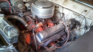 Ford Y Block Engine and 3 Speed Manual Transmission