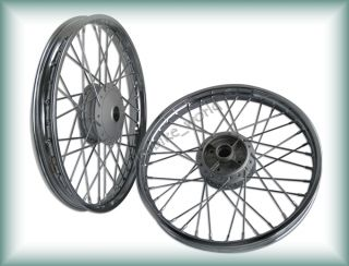 "Honda CB125 CB100 Front Rear Wheel Set 18"" 18"""