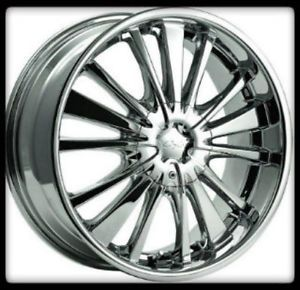 "20"" x 8"" CX 816C CX 16 5x100 4 5 Altima Miata Optima Coupe Chrome Wheels Rims"