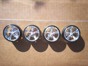 "30"" inch Chrome Torque Thrust Wheels Donk Tires Rims 1 24 1 25 Scale Model"