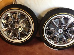 "Chrome Vogue Tires Rims Wheels 17"" Cadillac DTS"