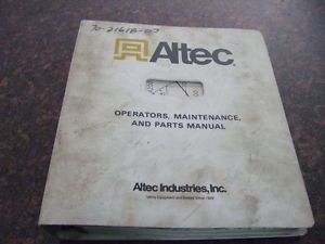 Altec D842 Derrick Operation Service Shop Repair Maintenance and Parts Manual