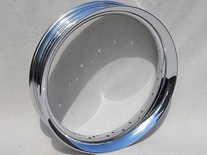 "Harley Davidson Touring Softail Dyna Chrome Smoothie 16"" Front Wheel Rim New"