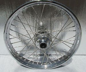 "Harley Davidson 21 inch Heritage Fatboy Softail Chrome Wheel Rims 21"" Spoke Rim"