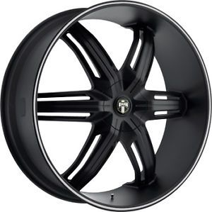 "18"" Dub S191 Drone 6 Wheel Set Black with Groove Rims rwd 6LUG 18inch"