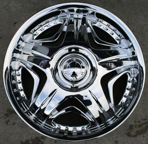 "Akuza Sting 503 20"" Chrome Rims Wheels Lincoln Navigator"