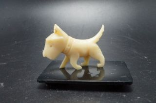 99 Cent Sale Vintage Plastic Celluloid Scottish Terrier Dog Miniature