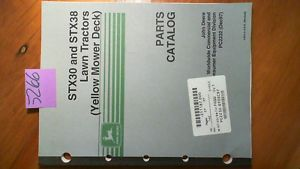 John Deere STX30 STX38 Lawn Tractor Yellow Mower Deck Parts Catalog Manual 12 97