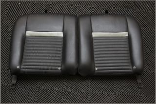 03 04 Ford Mustang Mach 1 Rear Seat Coupe Black Leather Upper Back Fold Down