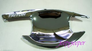 D Chrome Door Handle Cover Insert Bowl Mitsubishi Triton L200 Animal ml 06 12