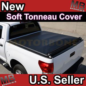 07 11 Chevy Silverado Pick Up Truck 6 6' Bed Rollable Soft Tonneau Cover Black