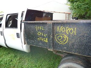 Used 9ft Dump Bed Landscaper Body Ford Chevy Dodge GMC Truck Hoist Gate Grain