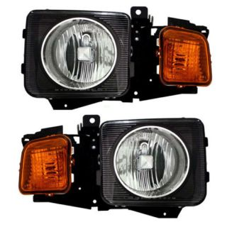 New Pair Set Headlight Headlamp Lens Housing Assembly Dot Hummer H3 H3T SUV