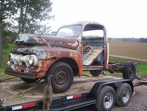 1952 Ford Pickup Truck Shortbed 1 2 Ton Rat Rod Hot Rod Project Truck 51 53