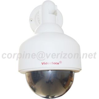 Dummy Security Camera Fake Blinking Light Simulated Decoy Home Surveillance BZY