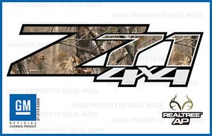 2013 Chevy Silverado Z71 4x4 Decals Realtree AP Camo Stickers Side Bed Truck HD