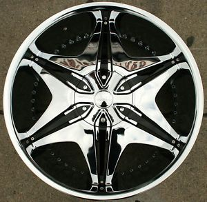 "Akuza Big Papi 712 22"" Chrome Rims Wheels Hummer H3 06 10"