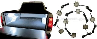 8PC Pick Up Truck Bed Rear Work Box 48 White LED Lighting System Light Kit