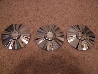 3 Akuza 508 Reaper Chrome Wheel Rim Center Cap
