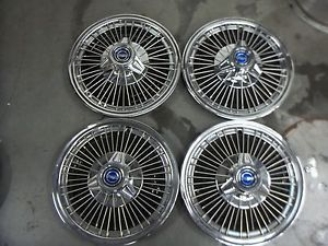 "Ford Mustang Fairlane Falcon Hubcaps Wheelcovers 1967 1968 1969 14"" Spinners"