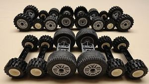 70 Lego Wheels Vehicle Parts Car Truck Tires Rim Sets Lot