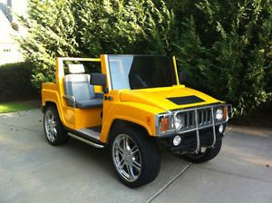 "2006 Hummer H3 Golf Cart 4 Passenger 18"" Wheels on Board Charger Brush Guards"