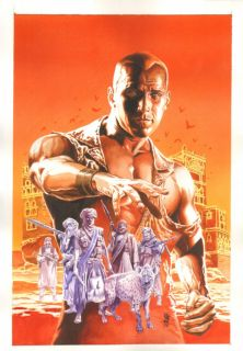 Doc Savage 9 Painted Cover Great Orange Sky 2010 Art by J G Jones