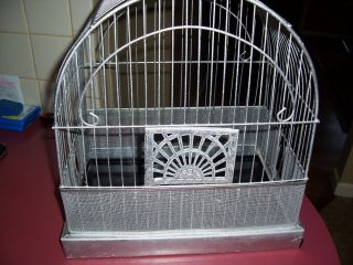 Vintage Antique Metal Art Deco Bird Cage Crowm
