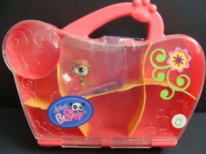 Littlest Pet Shop Carry Case Display Box Meerkat New
