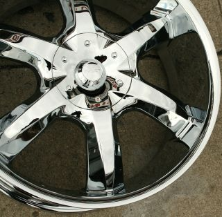"Akuza Lacuna 760 22"" Chrome Rims Wheels Charger Hemi 5 7L 22 x 9 5 5H 35"